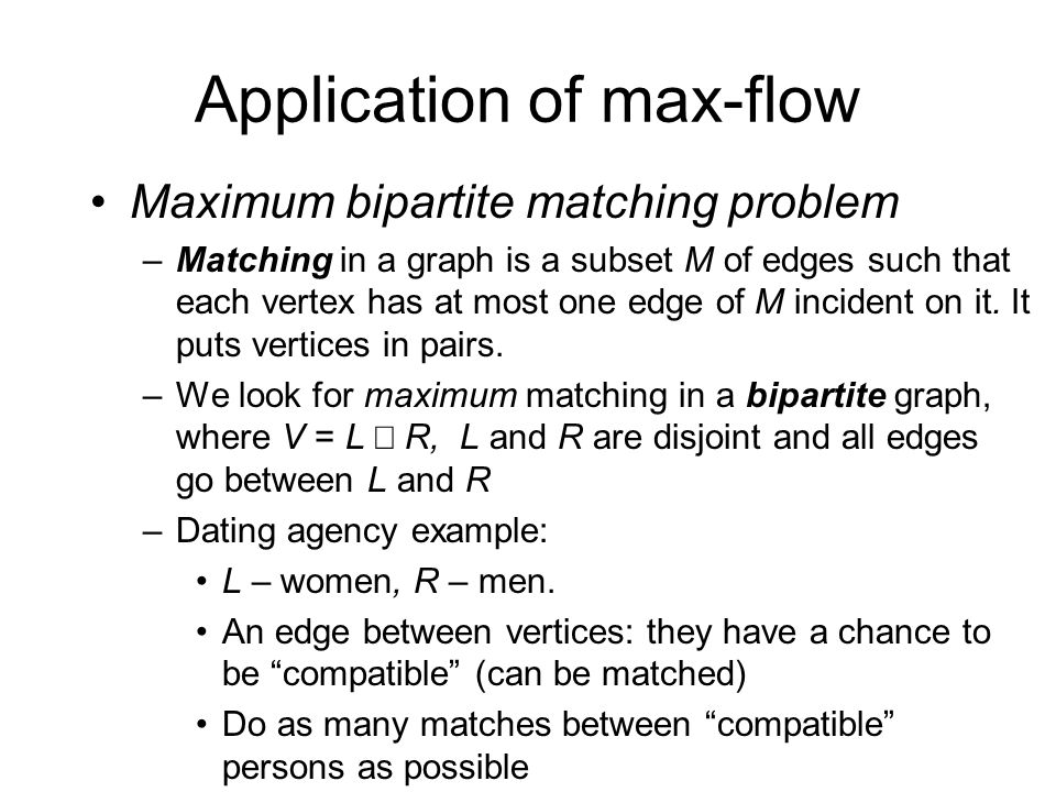 Application of max-flow