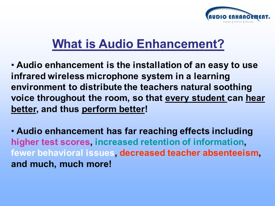What is Audio Enhancement