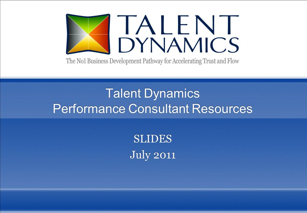 Talent Dynamics Performance Consultant Resources
