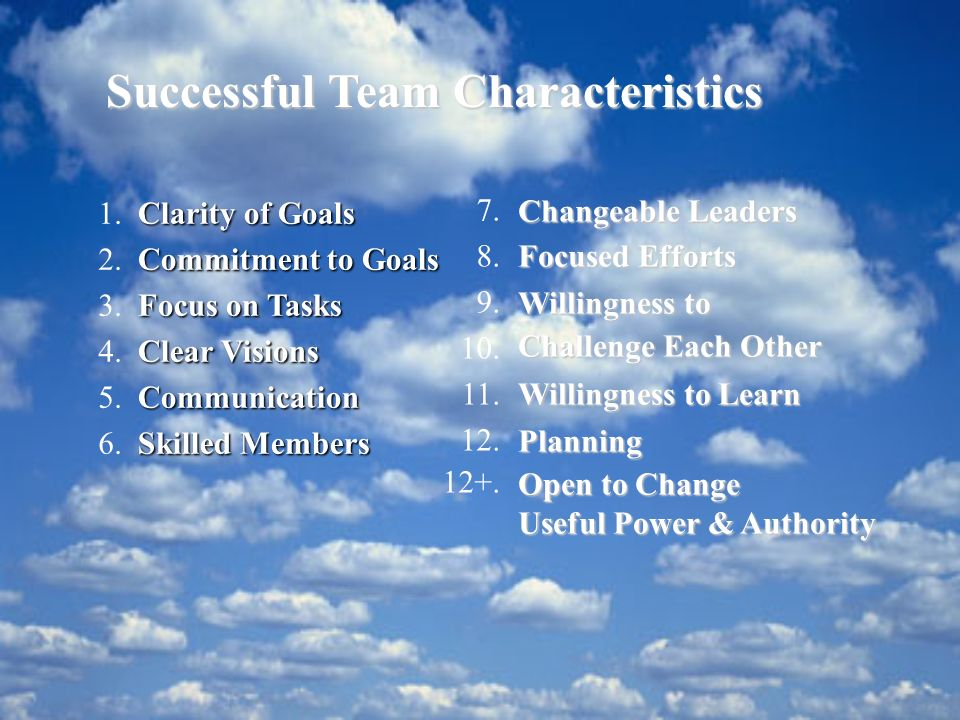 Successful Team Characteristics