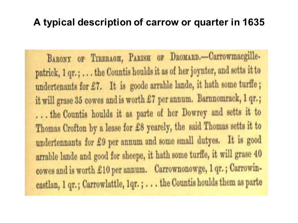 A typical description of carrow or quarter in 1635