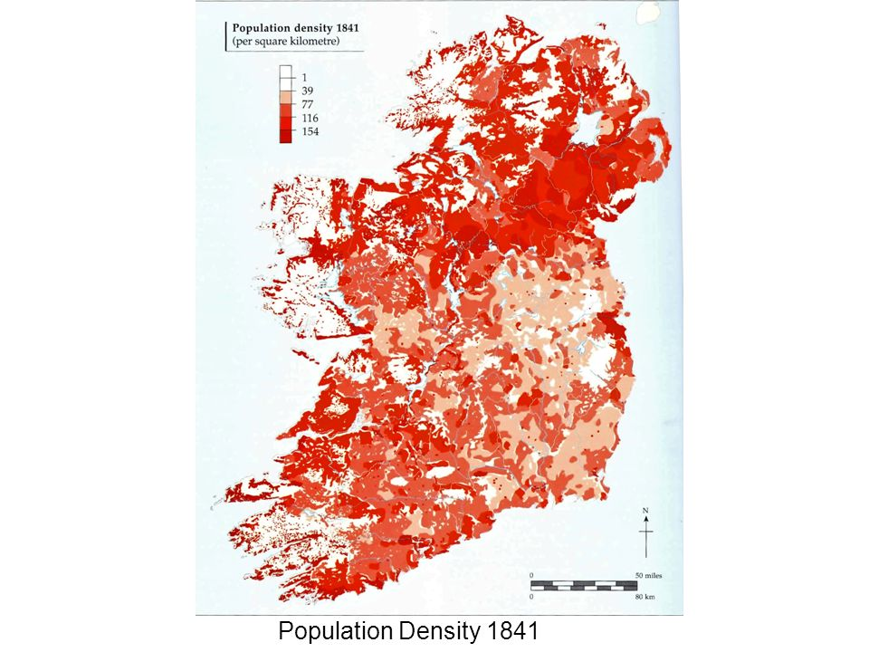 In Erris the settlements were in pockets of better land with dense populations.