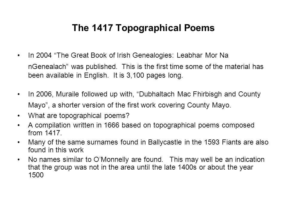 The 1417 Topographical Poems