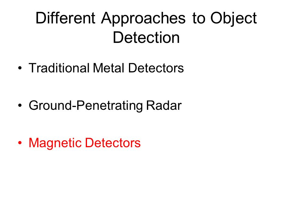 Different Approaches to Object Detection