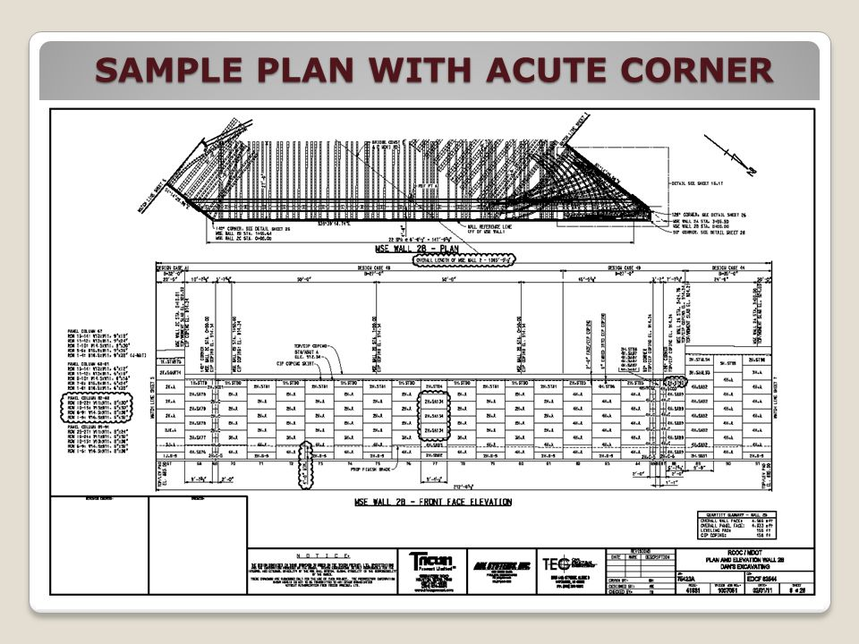 SAMPLE PLAN WITH ACUTE CORNER
