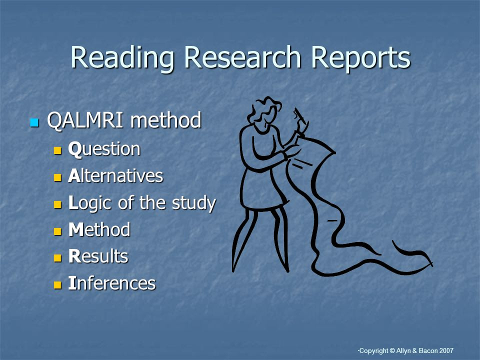 Reading Research Reports