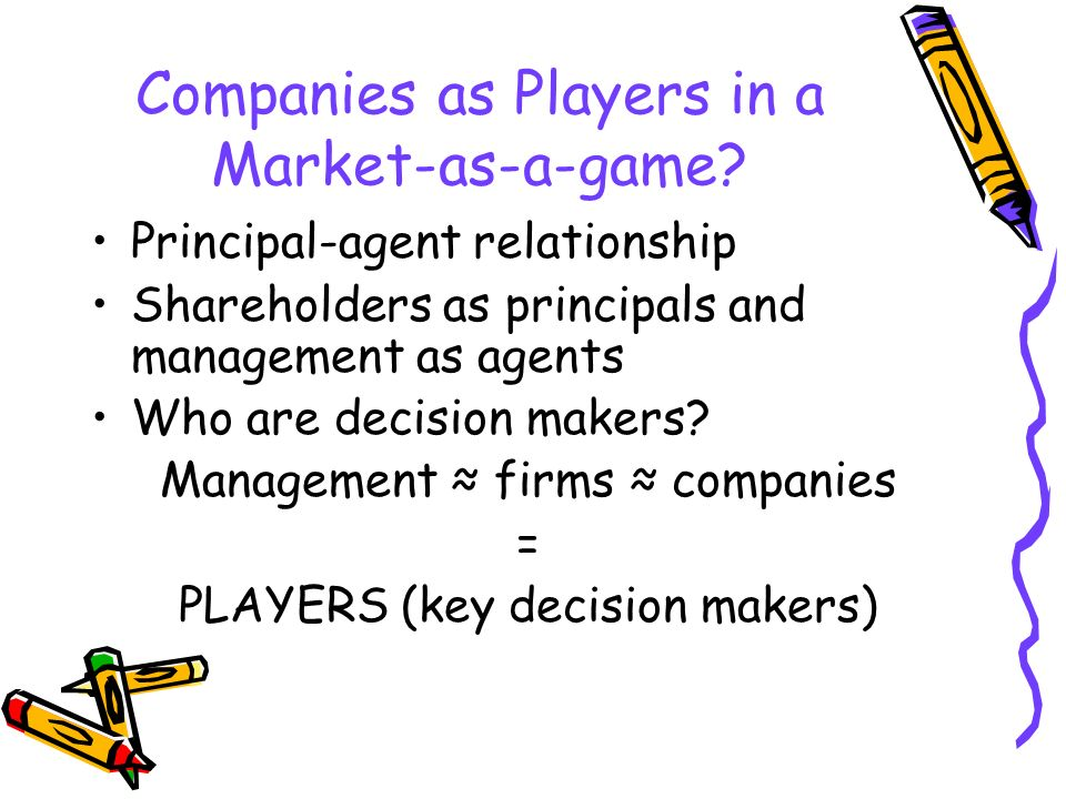 Companies as Players in a Market-as-a-game