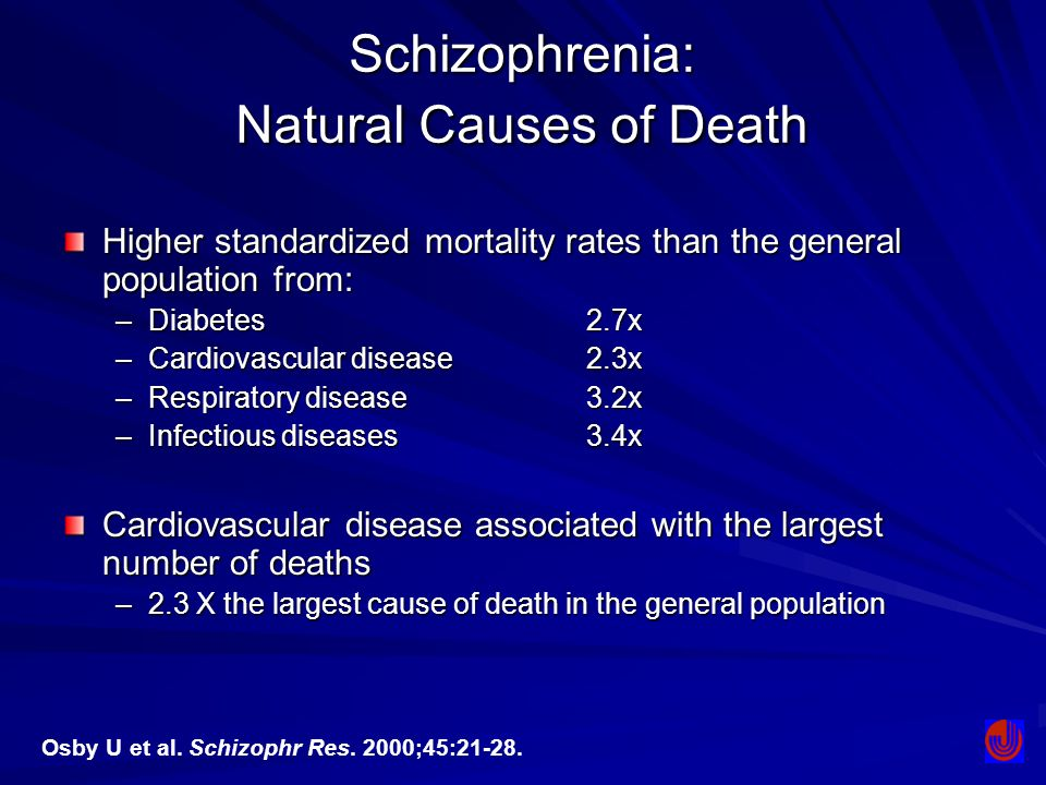 Schizophrenia: Natural Causes of Death
