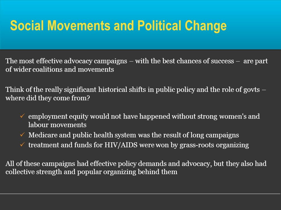 Social Movements and Political Change