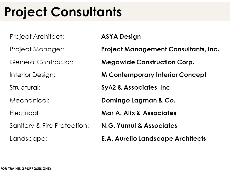 Project Consultants Project Architect: ASYA Design