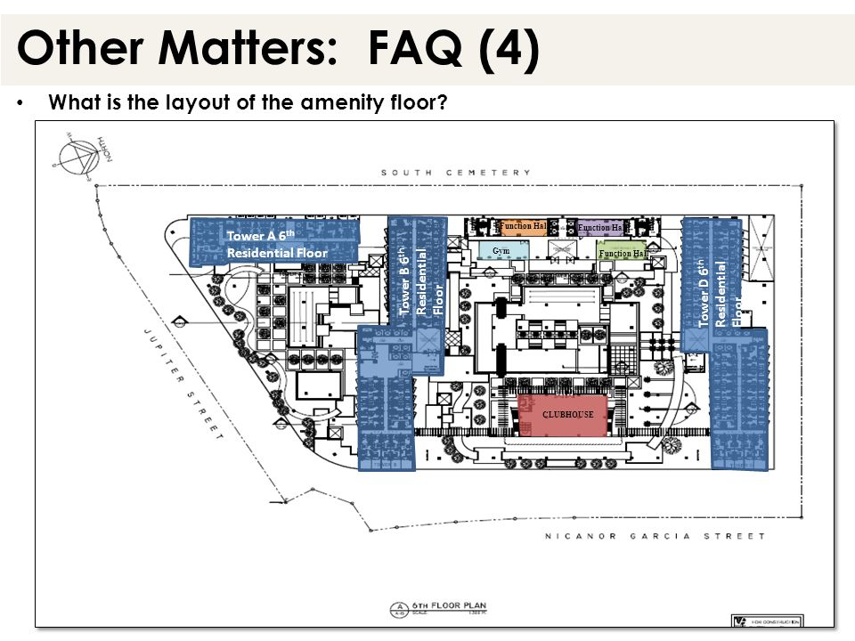 Other Matters: FAQ (4) What is the layout of the amenity floor