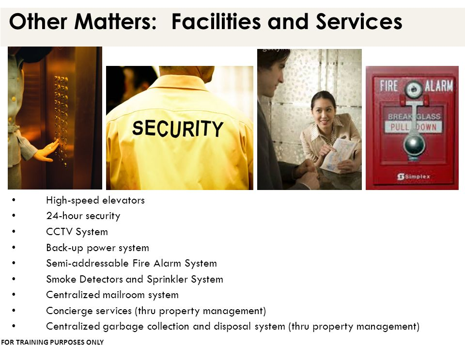 Other Matters: Facilities and Services