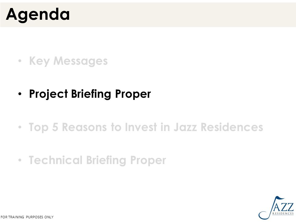 Agenda Key Messages Project Briefing Proper