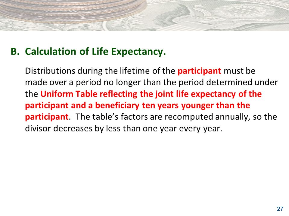 B. Calculation of Life Expectancy.
