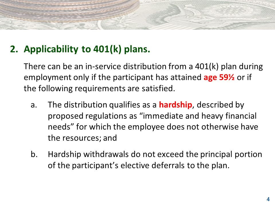 2. Applicability to 401(k) plans.