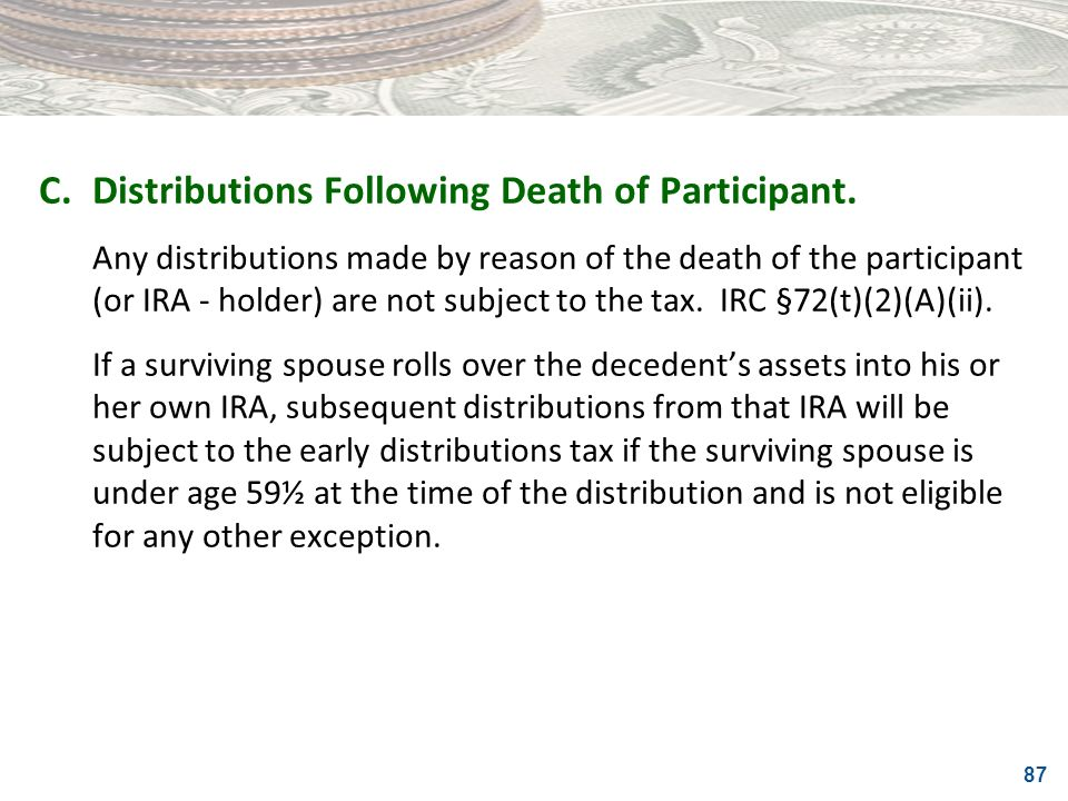 C. Distributions Following Death of Participant.