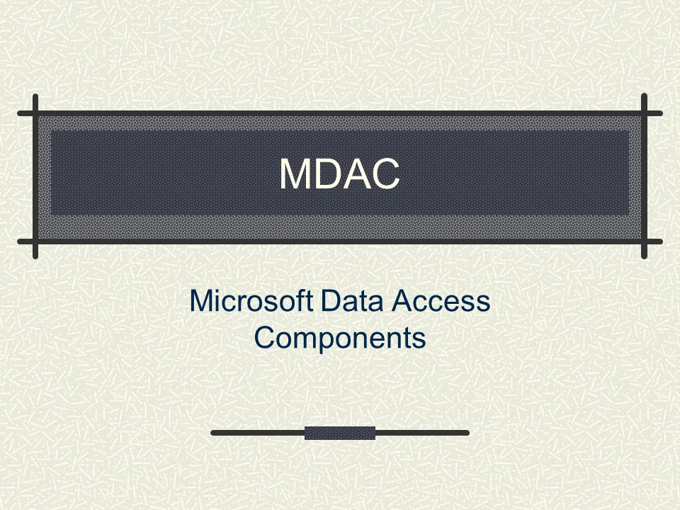 Microsoft Data Access Components