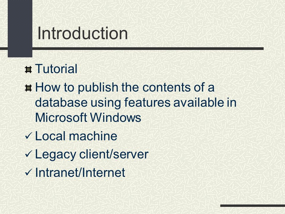 Introduction Tutorial