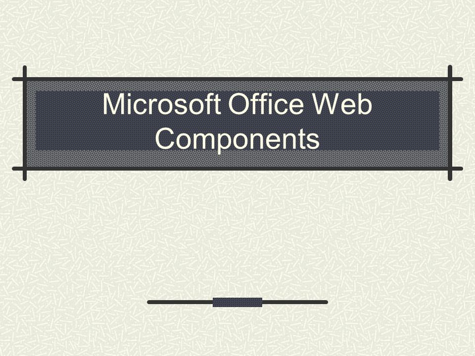 Microsoft Office Web Components