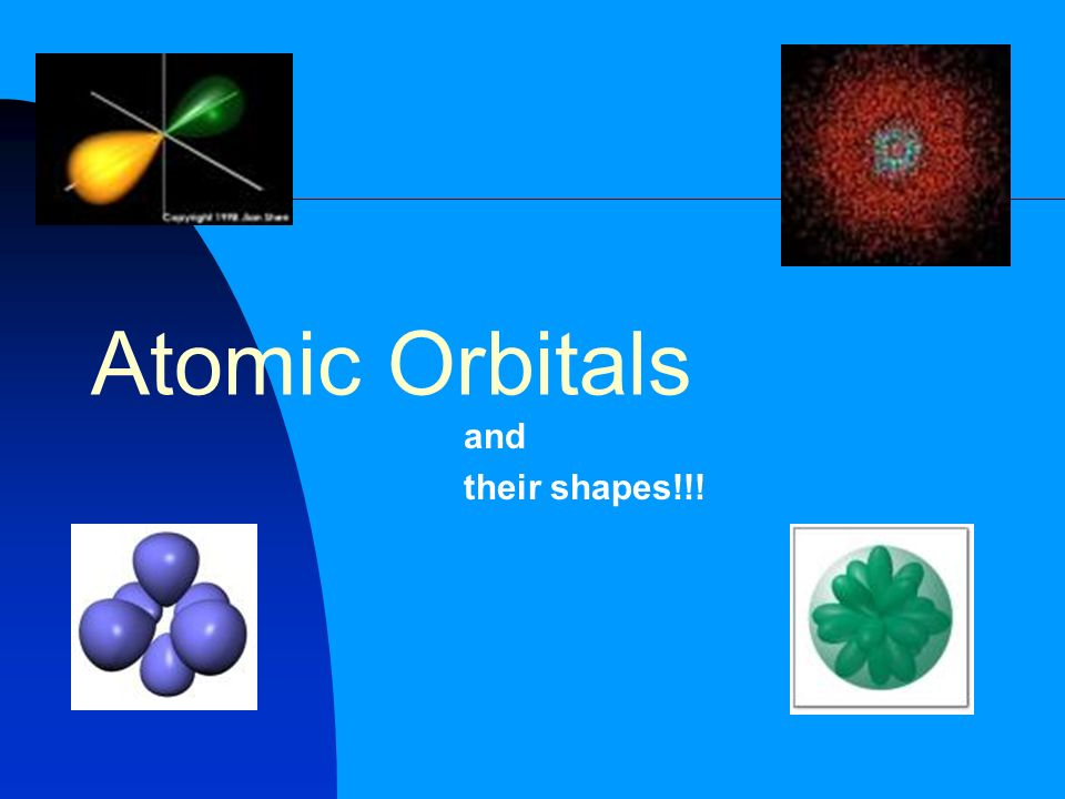 Atomic Orbitals and their shapes!!!