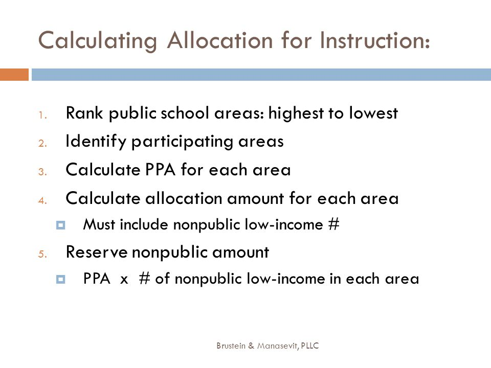 Calculating Allocation for Instruction: