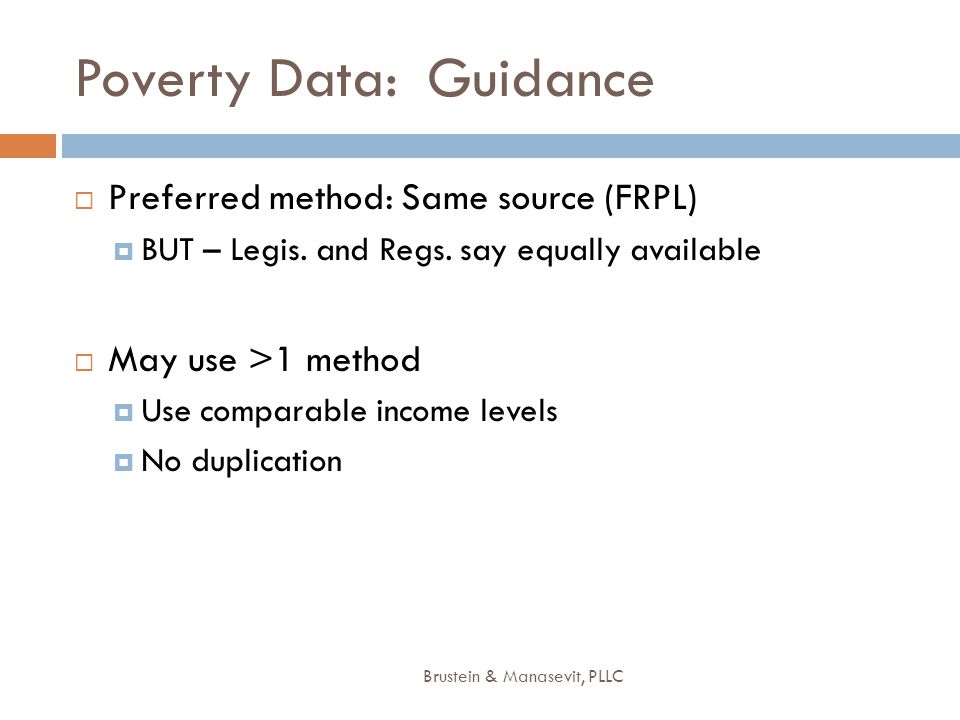 Poverty Data: Guidance