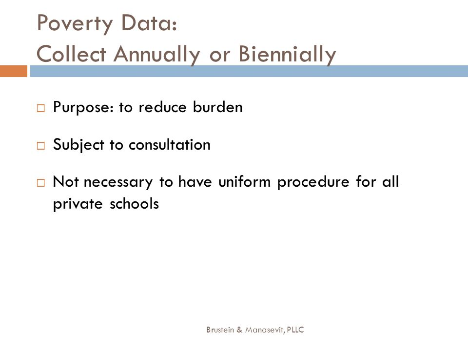 Poverty Data: Collect Annually or Biennially
