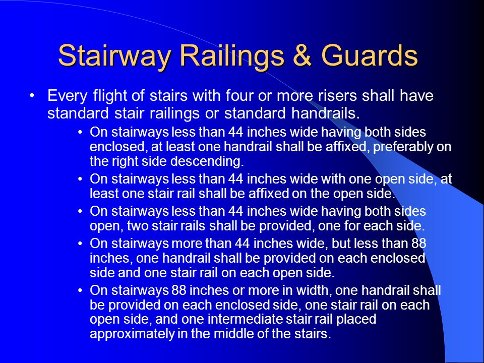 Stairway Railings & Guards
