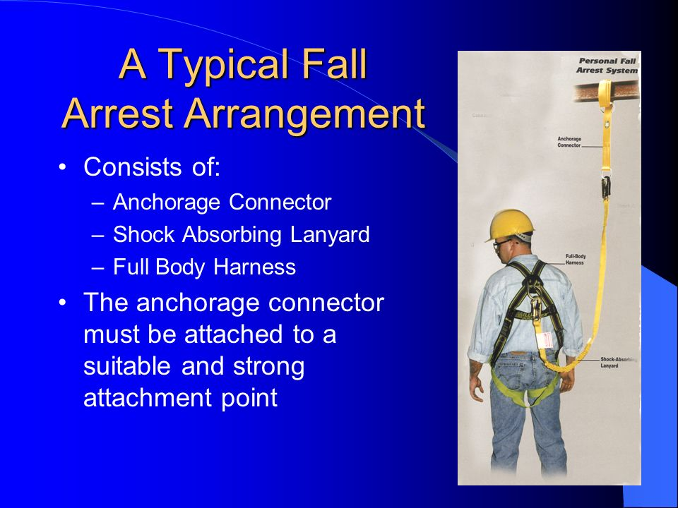 A Typical Fall Arrest Arrangement