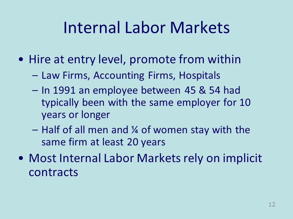 Internal Labor Markets