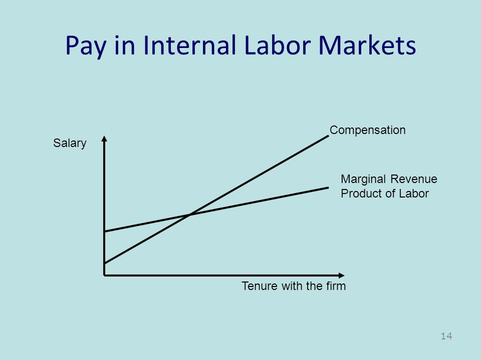 Pay in Internal Labor Markets
