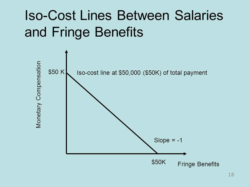 Iso-Cost Lines Between Salaries and Fringe Benefits