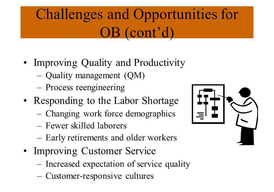 Challenges and Opportunities for OB (cont'd)