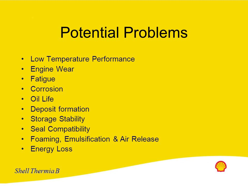 Potential Problems Low Temperature Performance Engine Wear Fatigue