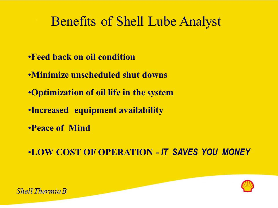 Benefits of Shell Lube Analyst