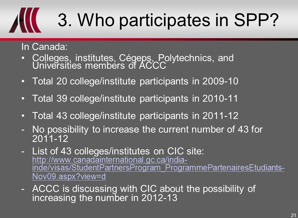 3. Who participates in SPP