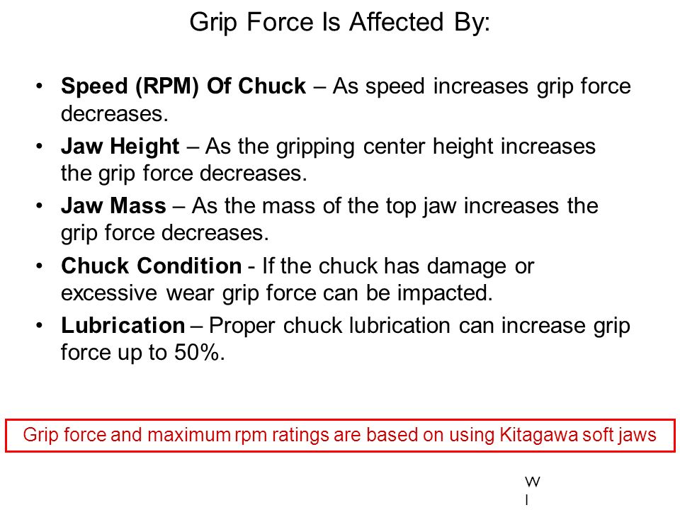 Grip Force Is Affected By: