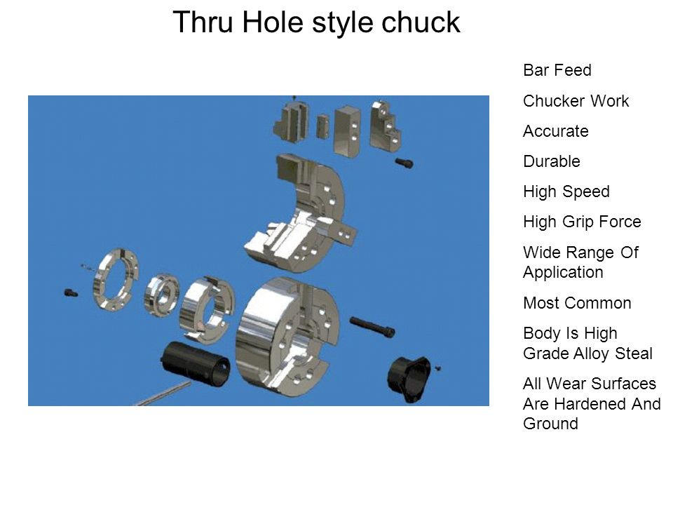 Thru Hole style chuck Bar Feed Chucker Work Accurate Durable