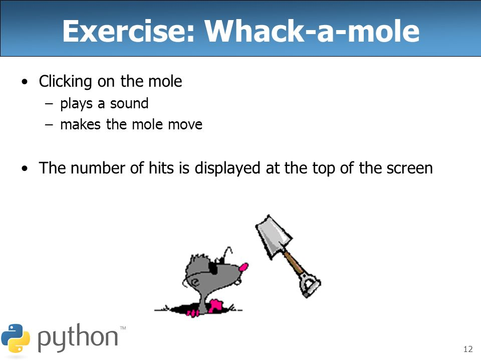Exercise: Whack-a-mole