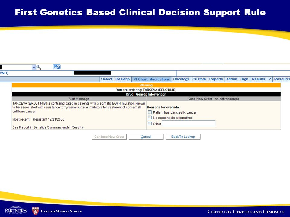 First Genetics Based Clinical Decision Support Rule