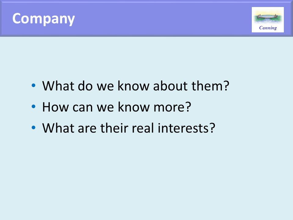 Company What do we know about them How can we know more