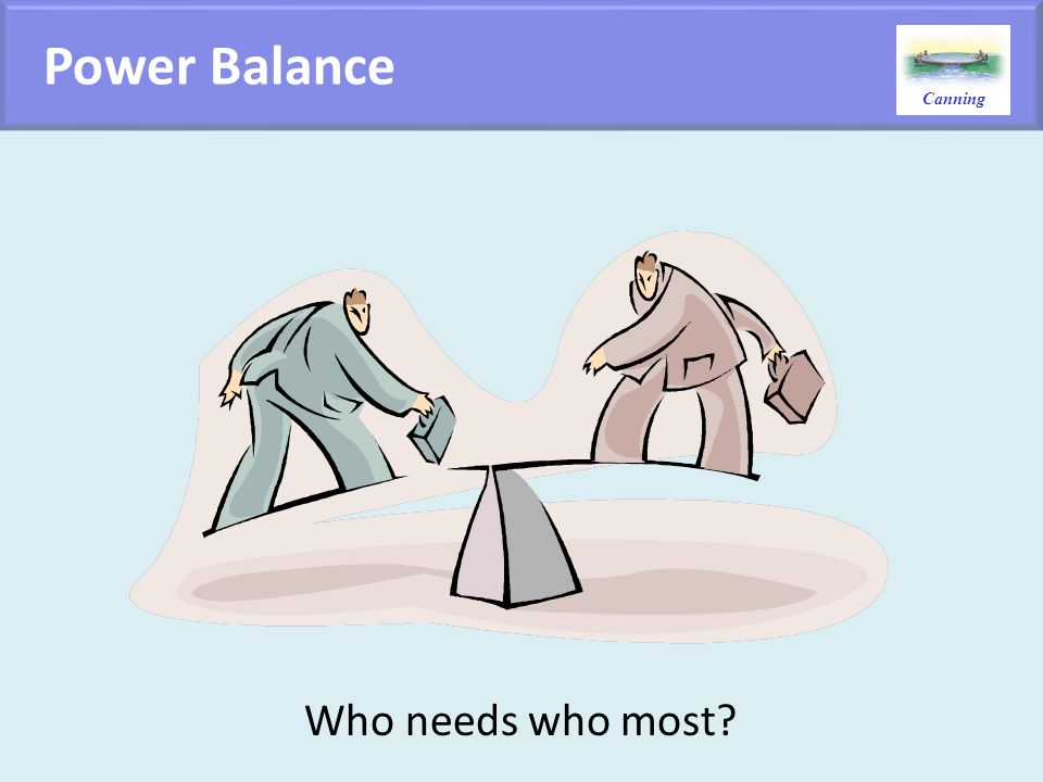 Power Balance Who needs who most