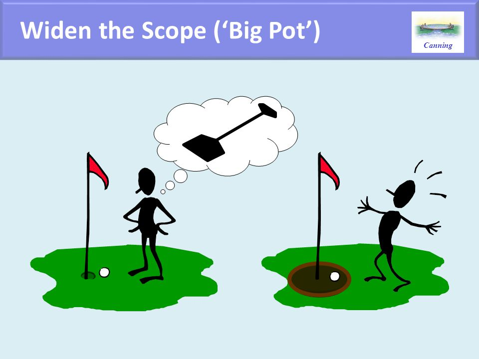 Widen the Scope ('Big Pot')