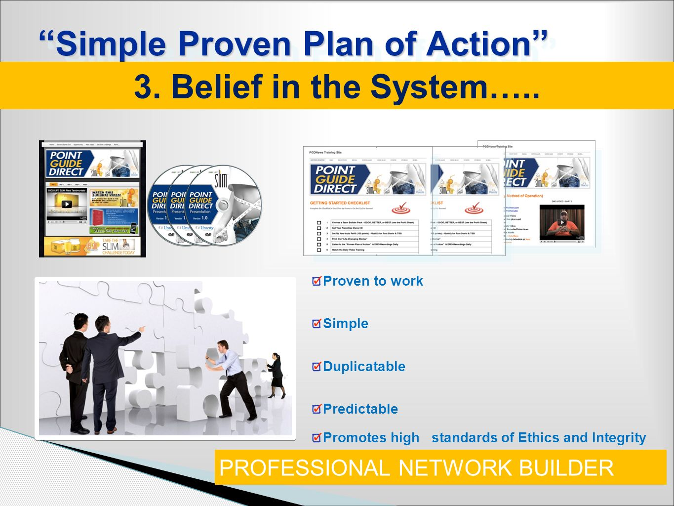 Simple Proven Plan of Action