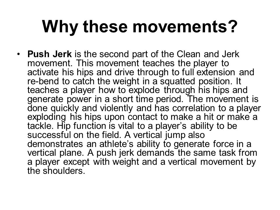 Why these movements