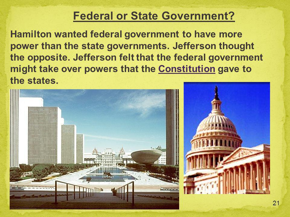 Federal or State Government