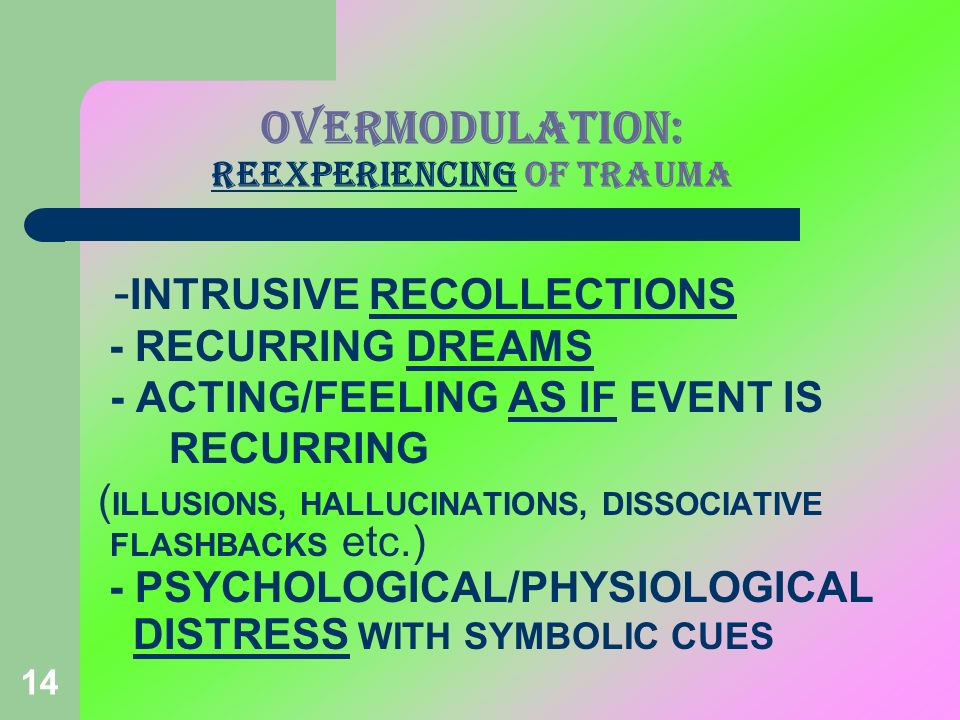 OVERMODULATION: REEXPERIENCING OF TRAUMA
