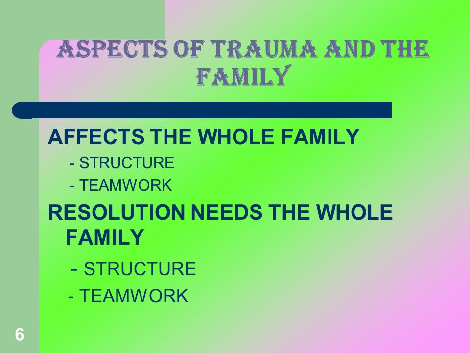 Aspects of TRAUMA and the family