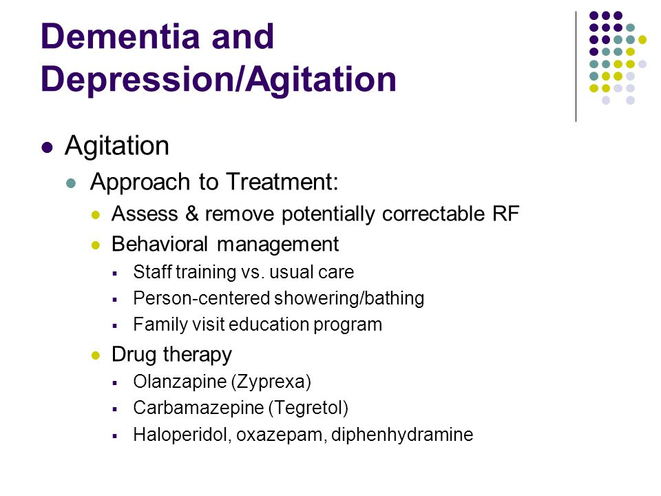 Dementia and Depression/Agitation