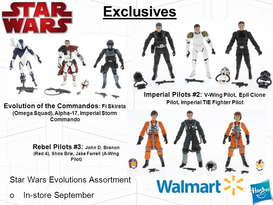 Exclusives Star Wars Evolutions Assortment In-store September